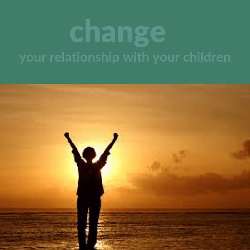 Victorious woman on beach change your relationship with your children