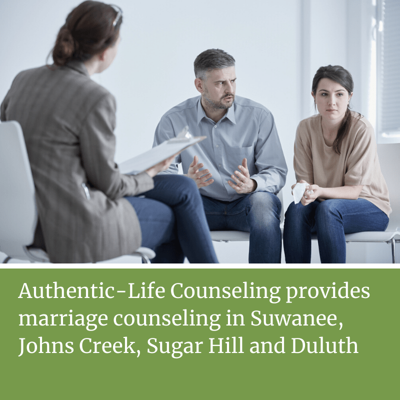 marriage counseling session with angry couple