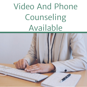 mental health counselor doing video counseling